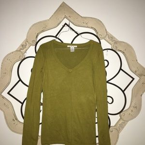 CAbi Sweaters - Cabi | Olive Green V Neck Sweater